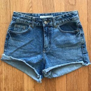 Topshop High Waisted Jean Denim Shorts size 25